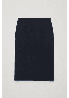 MERINO-WOOL PENCIL SKIRT