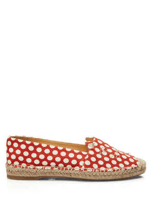 Charlotte Olympia Flats Women - KITTY ESPADRILLE RED & WHITE Printed Fabric 36