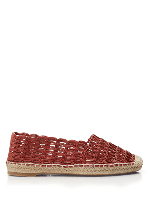 Charlotte Olympia Flats Women - WOVEN ESMÉ TERRACOTTA Smooth Nappa 36