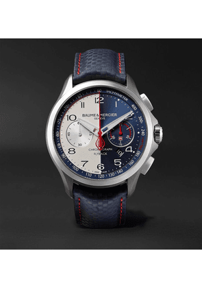 Baume & Mercier - Limited Edition Clifton Club Shelby Cobra Automatic 44mm Stainless Steel And Leather Watch - Blue