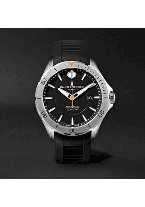 Baume & Mercier - Clifton Club Automatic 42mm Stainless Steel And Rubber Watch - Black