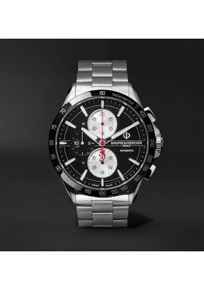 Baume & Mercier - Clifton Club Indian Legend Tribute Chief Chronograph 44mm Stainless Steel Watch, Ref. No. M0a10403 - Black