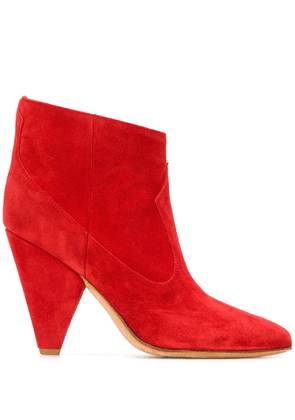 Buttero panelled booties - Red