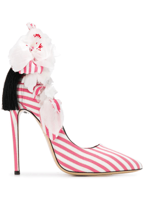 Aleksander Siradekian appliqué detail pumps - Pink