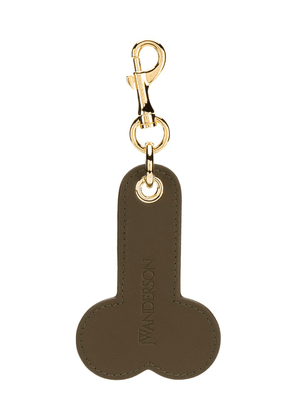 JW Anderson leather tag keyring - Brown