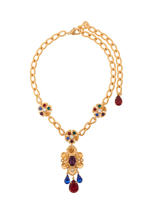 Dolce & Gabbana multicoloured gemstone necklace - Gold