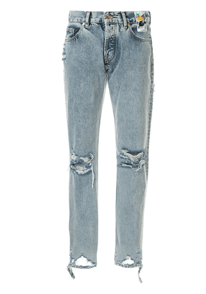 Filles A Papa distressed boyfriend jeans - Blue