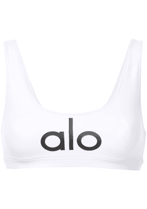 Alo Yoga logo tank top - White