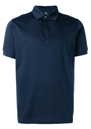 Fay knitted polo T-shirt - Blue