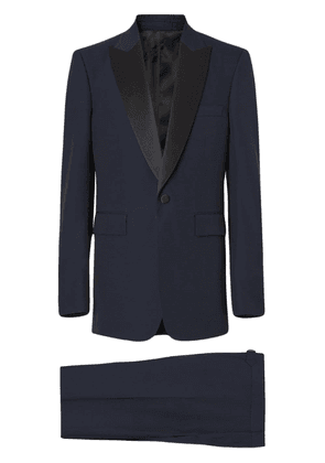 Burberry Classic Fit Wool Silk Tuxedo - Blue