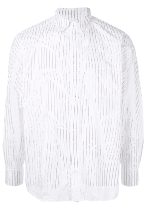 Doublet striped shirt - White