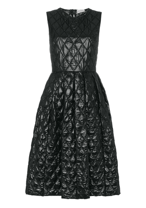 Moncler Quilted Open Back Midi Dress - Black