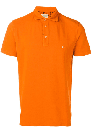 Borrelli logo short-sleeve polo top - Orange