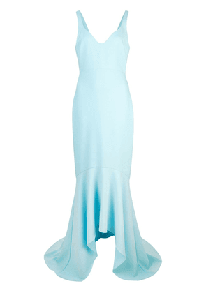 Cinq A Sept Sade flared gown - Blue