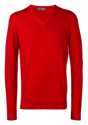Drumohr long-sleeve fitted sweater - Red