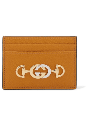 Gucci - Zumi Embellished Textured-leather Cardholder - Tan