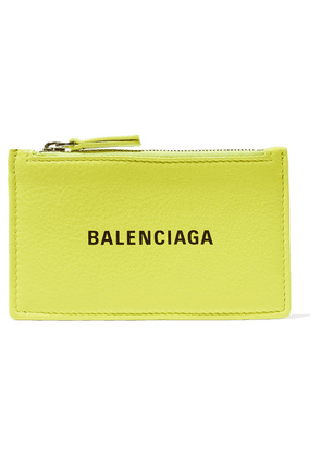 Balenciaga - Everyday Printed Textured-leather Cardholder - Green