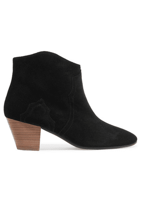 Isabel Marant - Dicker Suede Ankle Boots - Black