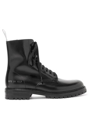 Common Projects - Combat Leather Ankle Boots - Black