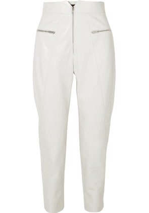 Isabel Marant - Cyril Leather Tapered Pants - White