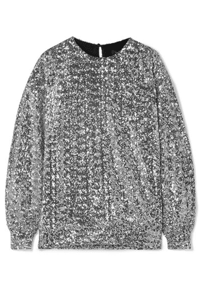 Isabel Marant - Olivia Sequined Jersey Blouse - Silver