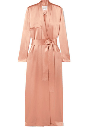 Galvan - Satin Trench Coat - Blush