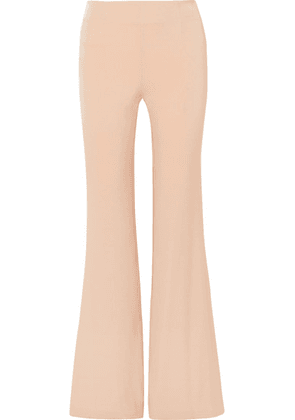 Galvan - Crepe Flared Pants - Peach