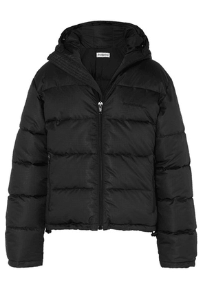 Balenciaga - Embroidered Quilted Ripstop Coat - Black