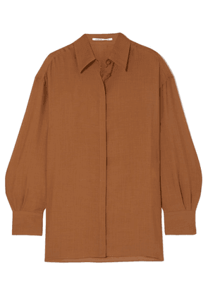 Agnona - Wool And Cashmere-blend Shirt - Brown