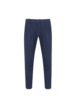 Navy Cotton Roma Trousers