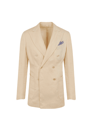 G. Inglese Natural Cotton and Linen Double-Breasted