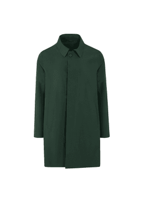 Green Bonded Trench Coat