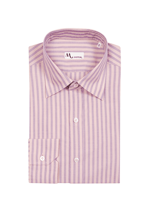 Pink and Lilac Striped Cotton Shirt