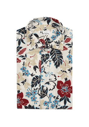 Multicoloured Floral and Leaf Print Shirt