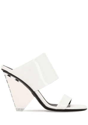 95mm Lory Patent Leather Wedges