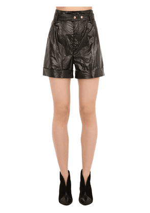 Tweni Metallic Cotton Shorts
