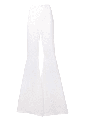 Balmain high waisted palazzo pants - White