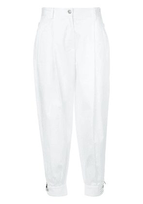 Dolce & Gabbana high-rise tapered trousers - White