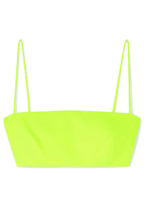 Versace - Cropped Cady Bandeau Top - Yellow