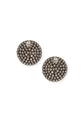 Eclipse Crystal Button Earrings