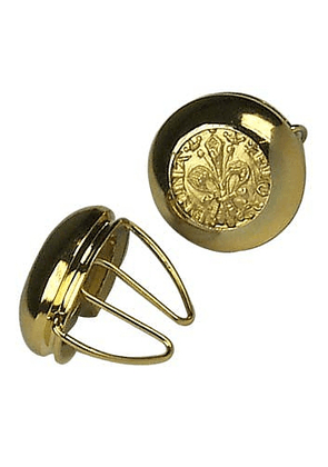 Gold Plated Giglio Button Covers