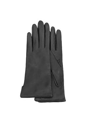 Women's Black Cashmere Lined Italian Leather Gloves