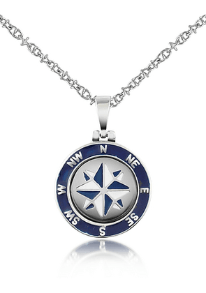 Stainless Steel Windrose Pendant Necklace