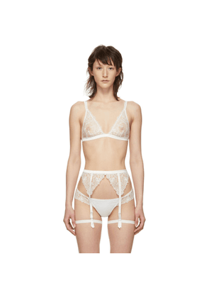 I.D. Sarrieri White Embroidered Tulle Bralette