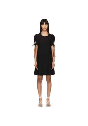See by Chloé Black Puff Sleeve Dress