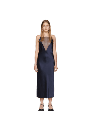 Marina Moscone Navy Gia Slip Dress