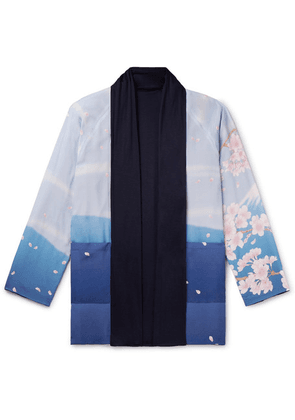 Blue Blue Japan - Reversible Printed Crepe De Chine And Jersey Jacket - Blue