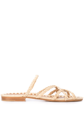 Carrie Forbes Noura braided sandals - Brown