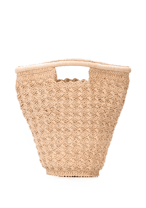 Carrie Forbes Lily bucket bag - Neutrals
