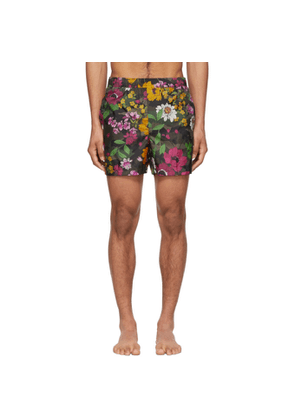 Valentino Multicolor Flower Swim Shorts